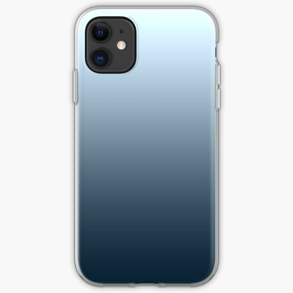 Blue gradient - top to bottom iPhone Soft Case