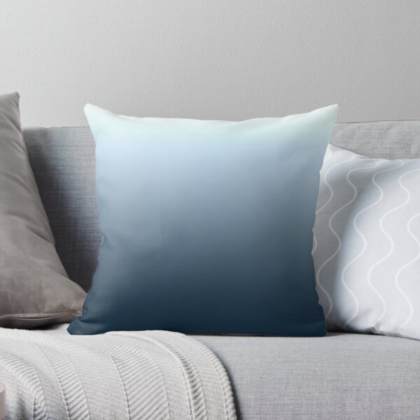 Blue gradient - top to bottom Throw Pillow