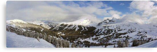 Lake Louise Ski Resort (Pano) by Ryan Davison Crisp