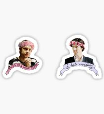 Sherlock and John together Sticker