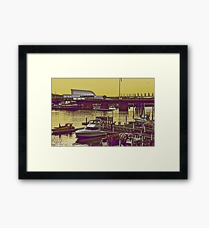 Yellow scenery & speed boats...:On Featured work Framed Print