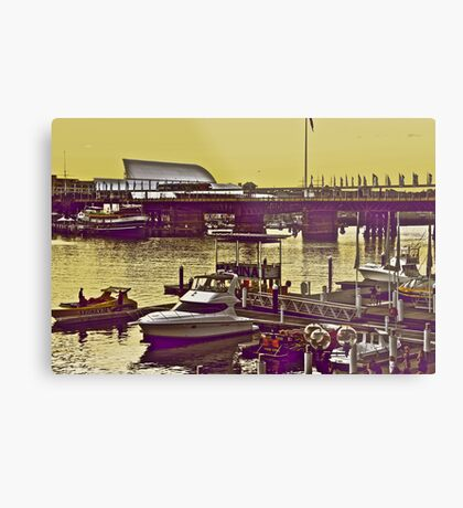 Yellow scenery & speed boats...:On Featured work Metal Print