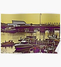 Yellow scenery & speed boats...:On Featured work Poster