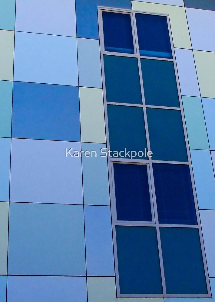 Blue on Blue  - Edith Cowan University Mt Lawley - Perth, Western Australia by Karen Stackpole