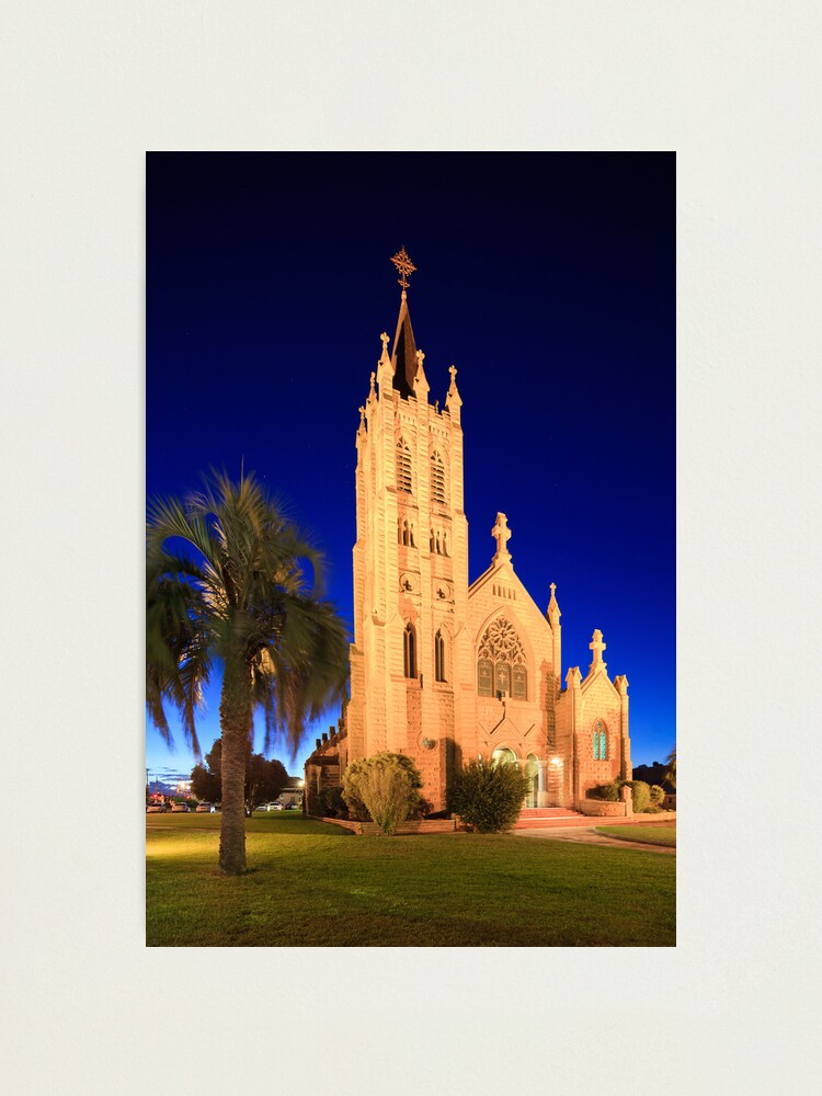 Alternate view of St Mary's Church during Blue Hour Photographic Print