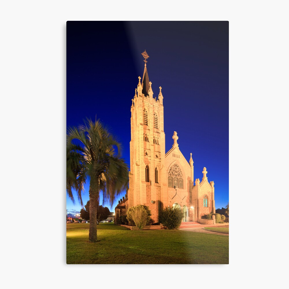 St Mary's Church during Blue Hour Metal Print