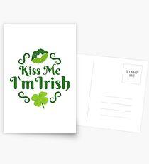 Kiss Me I'm Irish Emoji JoyPixels Love Ireland Postcards