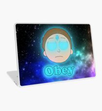 Morty Obey the Crystal  Laptop Skin