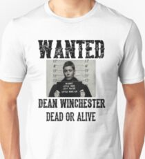 Dean Winchester Wanted Sign Unisex T-Shirt