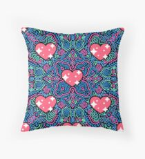 Hearts on Blue and Pink Joypixels World Emoji Day Floor Pillow
