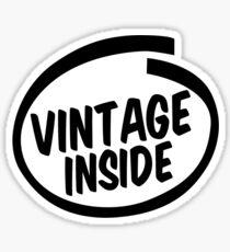 vintage inside Sticker