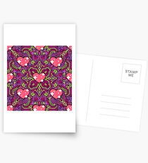 Hearts on Bright Pink Joypixels World Emoji Day Postcards
