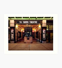 off to the movies at tampa theatre Art Print