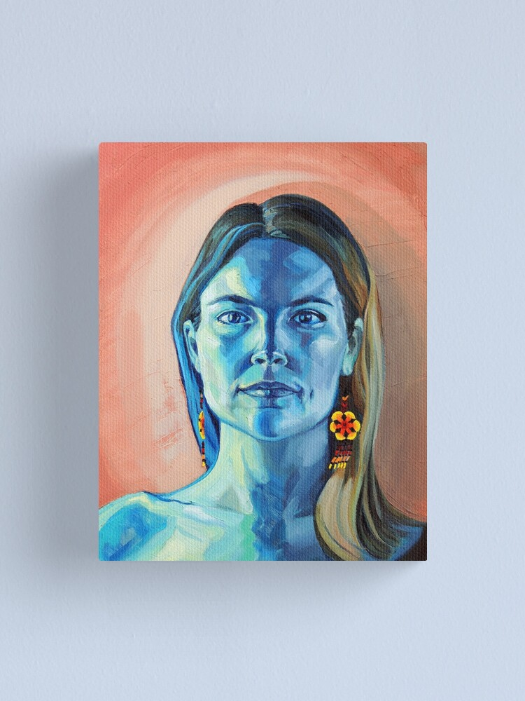 Alternate view of Peyote Woman (self portrait) Canvas Print