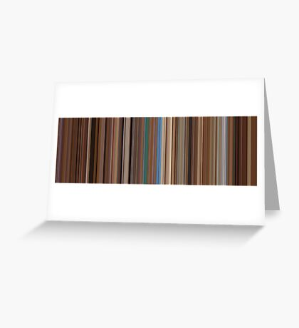 Moviebarcode: The Life Aquatic with Steve Zissou (2004) [Simplified Colors] Greeting Card