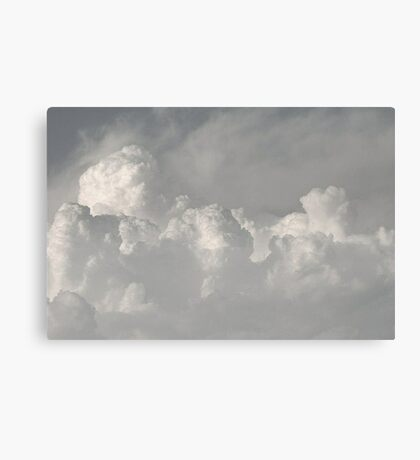 Clouds in black and white Canvas Print