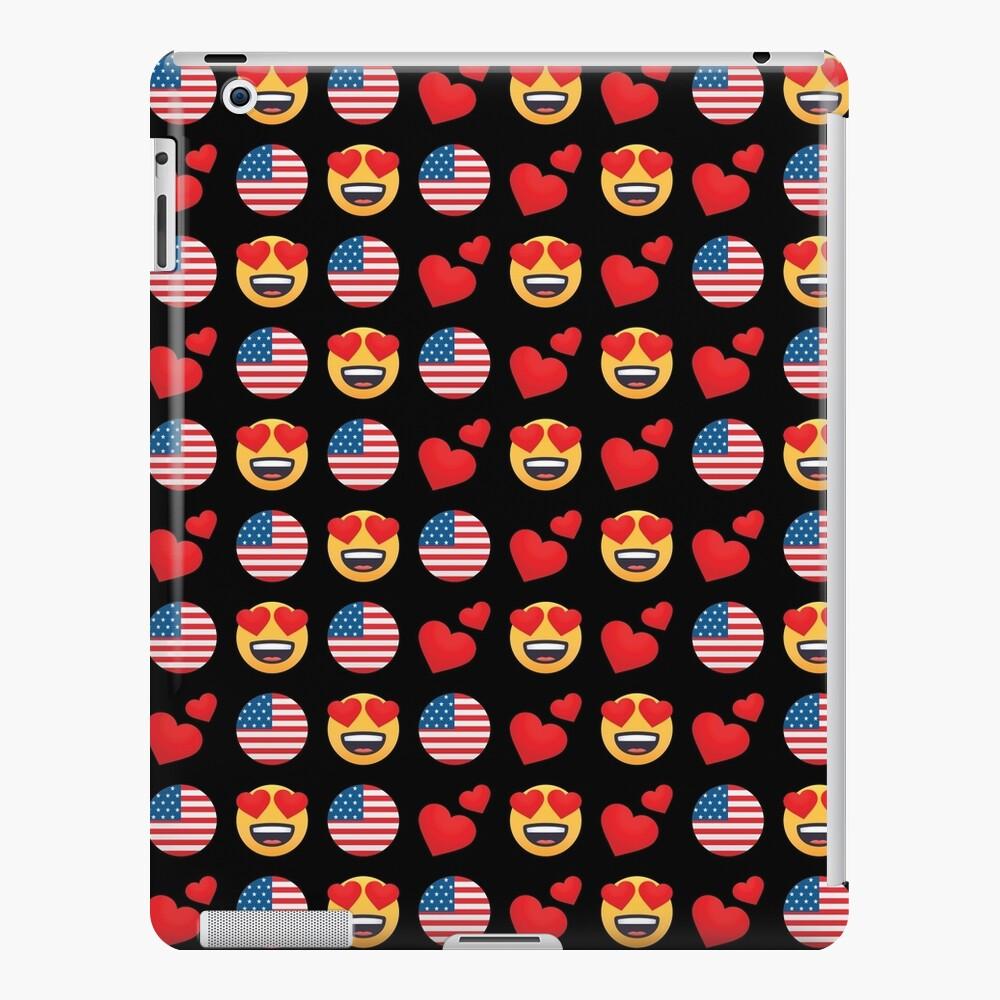 Love American Emoji JoyPixels Reisen Sie nach USA iPad-Hülle & Skin