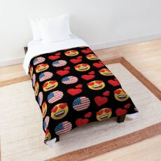 Love American Emoji JoyPixels Travel to United States Comforter