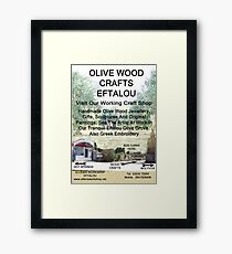 Eftalou Olive Wood Shop Framed Print