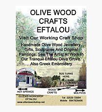 Eftalou Olive Wood Shop Photographic Print