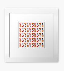 Love Skiing Emoji JoyPixels Funny Skier Framed Print