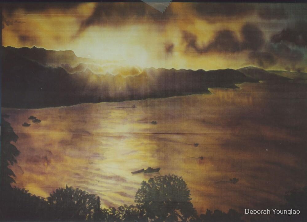 Consett Bay Sunset 1 by Deborah Younglao