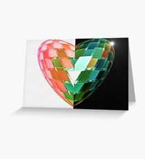 Heart of Glass Portals  (UF0280) Greeting Card