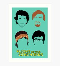 Flight of the Conchords: Silly-ettes Art Print