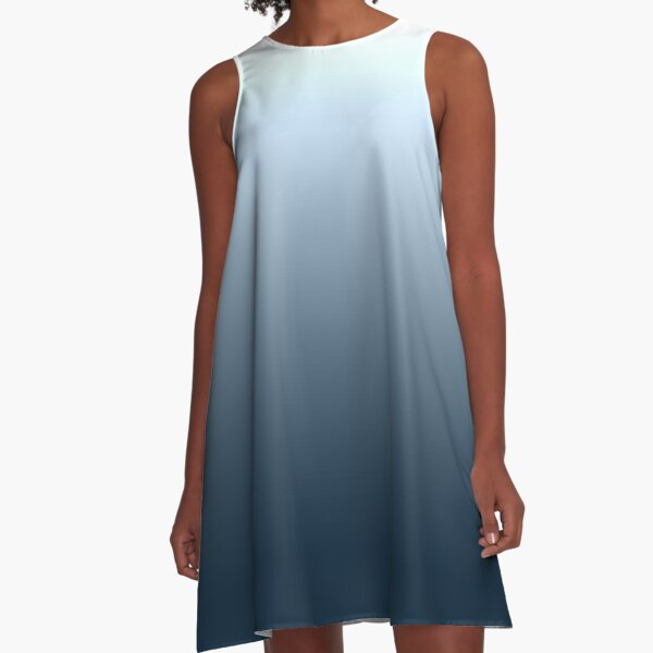 Blue gradient - top to bottom A-Line Dress