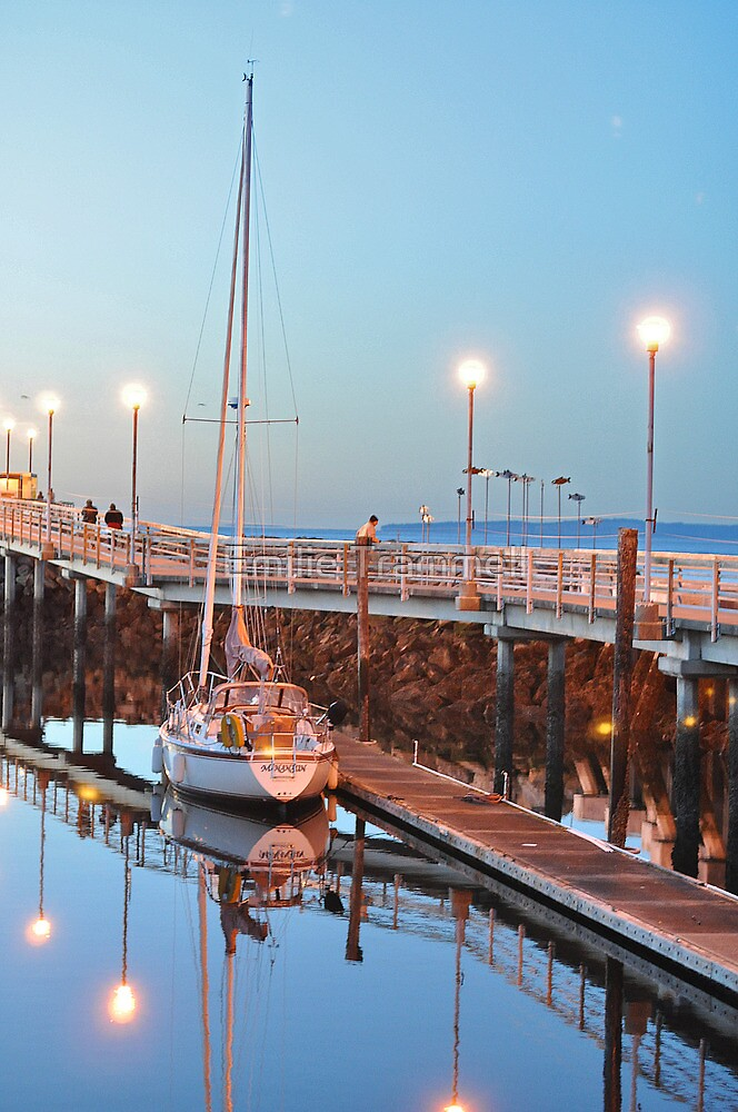 Serene Marina Reflections by Emilie Trammell