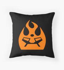 Lava Strike Force Emblem - Orange Throw Pillow