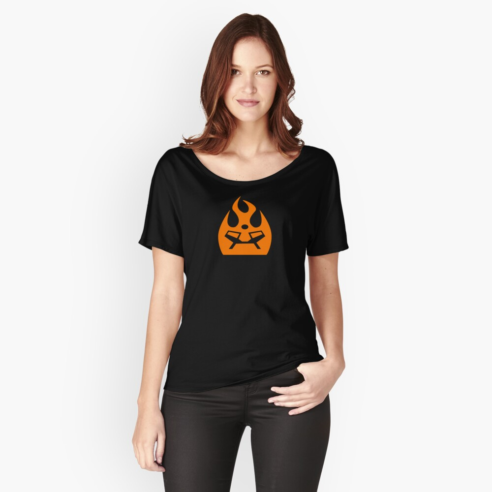 Lava Strike Force Emblem - Orange Women's Relaxed Fit T-Shirt Front