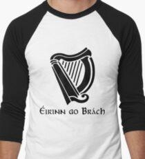 Éirinn go Brách Harp Black Men's Baseball ¾ T-Shirt