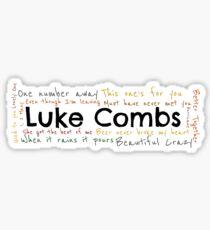 Luke Combs graphic Sticker