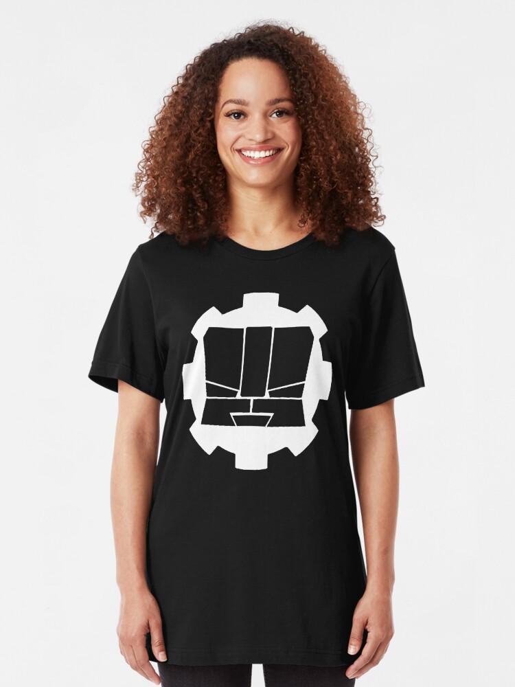 Alternate view of Heroic Gearo Emblem - White Slim Fit T-Shirt