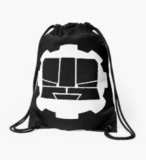 Heroic Gearo Emblem - White Drawstring Bag