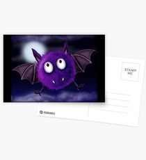 FLUFFBAT PURPLE BAT Postcards