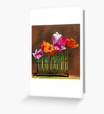 Tulip experiments Greeting Card
