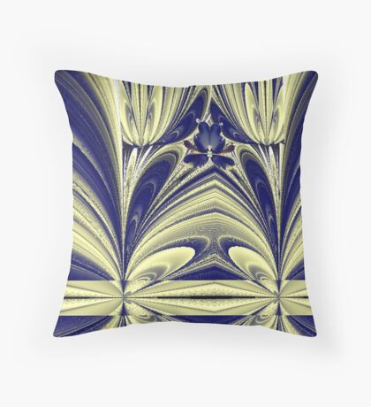 """""""Butterfly in the Tulips"""" Throw Pillow"""