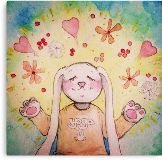 Yoga Bunny by olivarchy