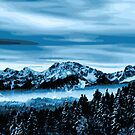 Snowy Trees and Mountains by M-a-k-s-y-m