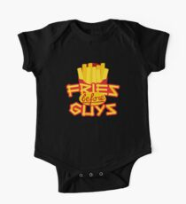 Fries Before Guys Emoji JoyPixels Funny Pommes Saying Short Sleeve Baby One-Piece