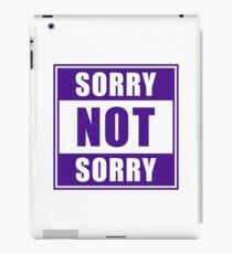 Sorry not Sorry Emoji JoyPixels Funny Girls Purple iPad Case/Skin