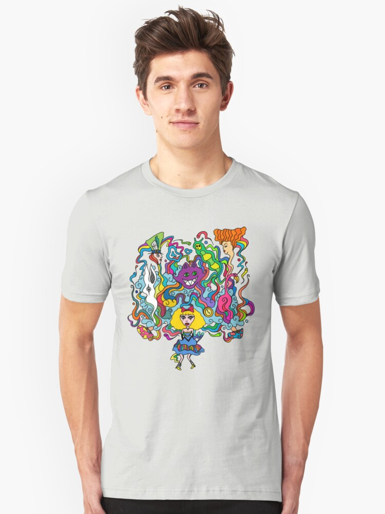 We are all mad here Unisex T-Shirt Front