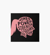 Women Power Emoji JoyPixels Dream Girl Goal Rose Gold Art Board Print