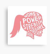 Women Power Emoji JoyPixels Dream Girl Goal Rose Gold Canvas Print