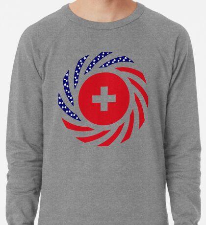 Swiss American Multinational Patriot Flag Series Lightweight Sweatshirt