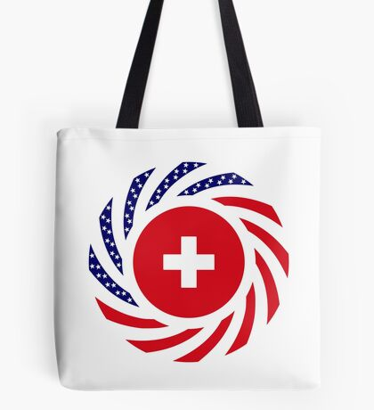 Swiss American Multinational Patriot Flag Series Tote Bag