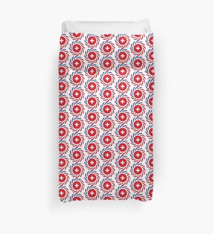 Swiss American Multinational Patriot Flag Series Duvet Cover