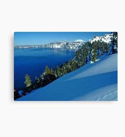 Crater Lake Winter Landscape 1 Canvas Print